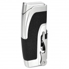 Multifunction Stainless Steel Windproof Butane Gas Lighter / Opener - Silver + Black