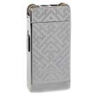 Elegant Stainless Steel Windproof Dual Flame Butane Gas Lighter - Silver