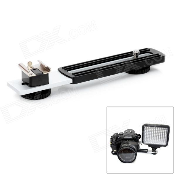 Flash Flashgun Light Hot Shoe Arm Bracket for Digital DSLR Camera - Silver + Black
