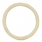 Universal Genuine Leather Car Steering Wheel Cover for GM Vehicle - Beige (Size M)