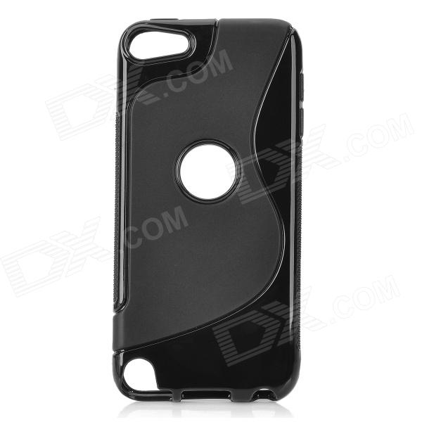 protective soft silicone back case for ipod touch 5 orange Protective TPU Soft Back Case Cover for Ipod Touch 5 - Black