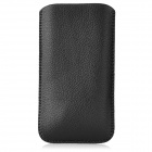 Protective PU Leather Bag Pouch for Iphone 5 - Black