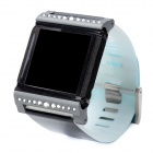 Joyroom Q30 Rubber + Diamond Wrist Watch Band for Ipod Nano - Blue + Black (24cm)