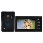 "SY806MJ1 Wired 7"" TFT LCD Color Video Door Phone w/ Touch Pad - Black"