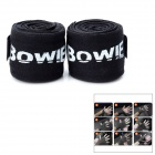 Professional Muay Thai Boxing Cotton Hand Wraps - Black (2.5cm / 2 PCS)