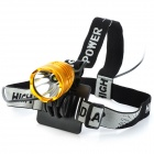 Cree XM-L T6 735lm 3-Mode White Light Headlamp - Golden (4 x 18650)