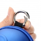 Fashion Mask Shaped PVC Coin + Key Case w/ Grid Bag - Blue
