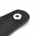 CP009 Universal Genuine Leather Protective Pouch Keychain for Car Smart Key - Grey + Black
