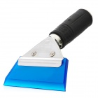 Car Windshield DIY Film Cleaning Cowhells Scraper - Blue + Silver + Black
