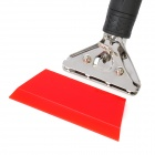 Car Windshield DIY Film Cleaning Cowhells Scraper - Red + Silver + Black