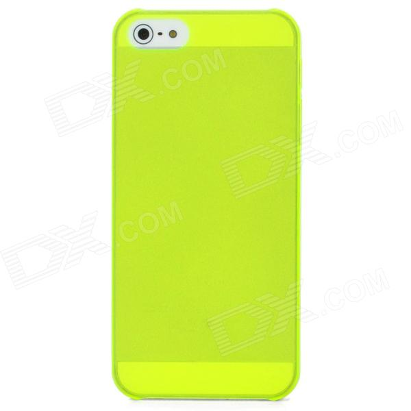 Ultrathin Protective Matte PC Hard Back Case for Iphone 5 - Fluorescent Yellow