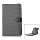 "Protective Artificial Leather Case w/ 80-Key Keyboard for 7"" Tablet - Black"