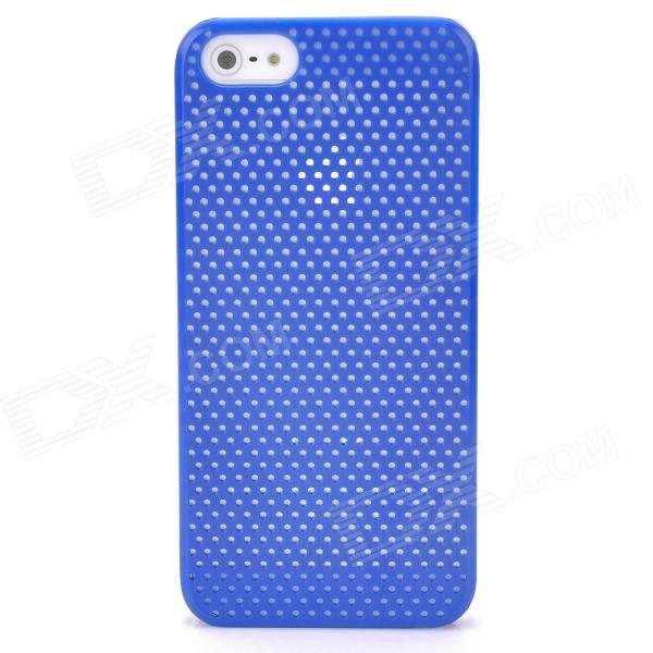 все цены на Mesh Protective Matte ABS Back Case for Iphone 5 - Deep Blue