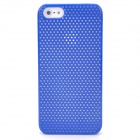 Mesh Protective Matte ABS Back Case for Iphone 5 - Deep Blue