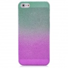 Water Drop Embossed Pattern Style Protective ABS Back Case for Iphone 5 - Green + Purple