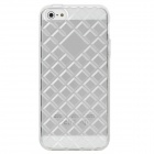 Diamond Checked Protective TPU Soft Back Case Cover for Iphone 5 - Transparent White