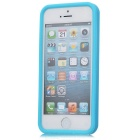 Simple Protective Silicone Back Case for Iphone 5 - Blue