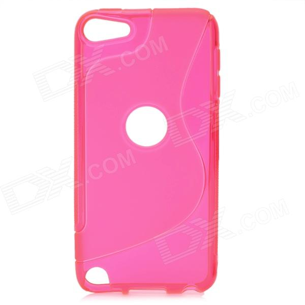 protective soft silicone back case for ipod touch 5 orange S Line Wave Curve Protective TPU Soft Back Case Cover for Ipod Touch 5 - Deep Pink