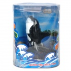 Whale Style Waterproof Diving Tumbling Water Toy - Black + White (2 x AA)