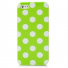 Polka Point Pattern Protective TPU Soft Back Case for Iphone 5 - Green + White