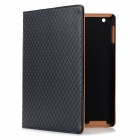 Diamond Pattern Protective PU Leather Case for Ipad 2 / the New Ipad - Black