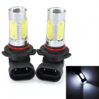 SENCART 9005 7.5W 380lm 7500K 5-LED White Light Car Fog Light (12~24V / 2 PCS)