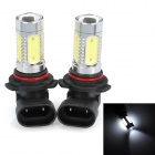 SENCART 9006 7.5W 380lm 7500K 5-LED White Light Car Fog Light (12~24V / 2 PCS)