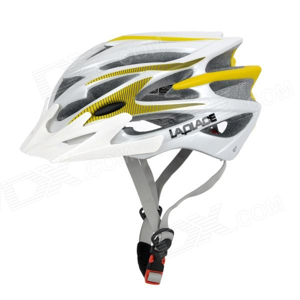 LAPLACE Q7 Outdoor Sports Cycling Helmet w/ Channeled Vents - White + Red (56~60cm)