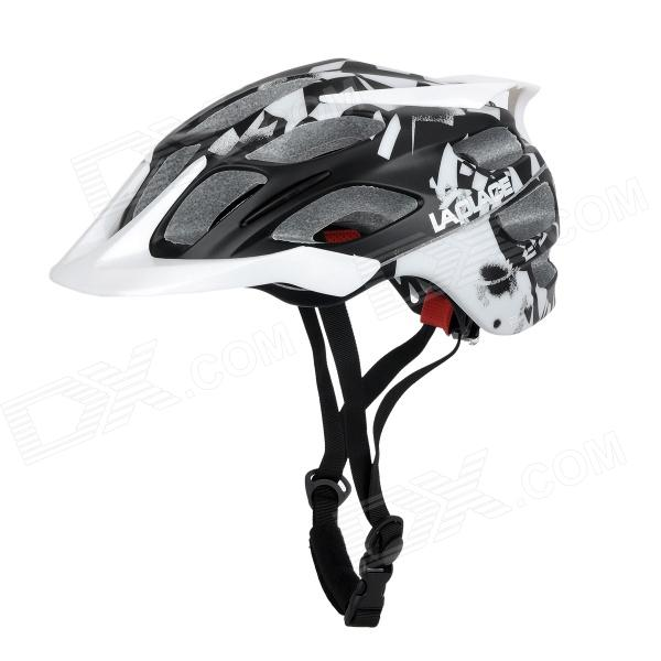 LAPLACE Q3 Outdoor Sports Cycling Helmet w/ Channeled Vents - White + Black (52~60cm) sbart camo spearfishing wetsuit 3mm neoprene camouflage wetsuit professional diving suit men wet suits surfing wetsuits o1018