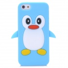 Cute Penguin Style Protective Silicone Back Case for Iphone 5 - Blue