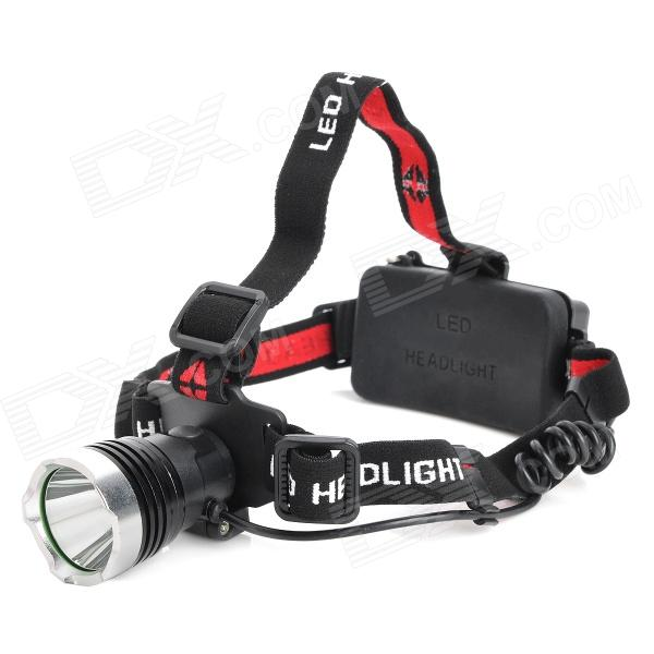 385lm 3-Mode White Light Headlamp - Black (1 x 18650 / 3 x AAA)