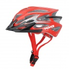 LAPLACE Q7 Outdoor Sports Cycling Helmet w/ Channeled Vents - Red + Black (56~60cm)