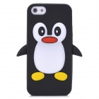 Penguin Pattern Protective Silicone Back Case for Iphone 5 - Black