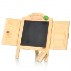 Loving Jalousie Window Style Mini Wooden Chalks Message Board - Yellow