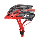 LAPLACE Q7 Outdoor Sports Cycling Helmet w/ Channeled Vents - Black + Red (56~60cm)