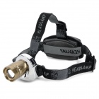185lm 3-Mode White Light Headlamp - Silver + Champagne (2 x 18650)