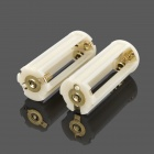 3 x AAA Batteries Holder Case for Flashlight - White (2 PCS)
