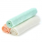 Bamboo Magic Washing Cloth / Dish Cleaning Towel - Pink + White + Cyan (3 PCS)