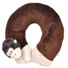 Cute Monkey Style U type Neck Pillow - Brown + White