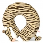 Cute Tiger Style U type Neck Pillow - Grey + Brown