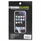 Protective Matte Screen Front + Back Protector Set for Iphone 5 - Transparent White (2 Set)