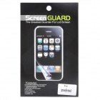 Protective Matte Screen Front + Back Protector Set for iPhone 5 - Transparent White