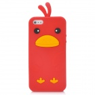 Cute Chicken Style Protective Silicone Back Case for Iphone 5 - Red