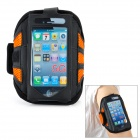 Trendy Sports Outdoor Net Fabric Armband for Iphone 5 - Orange + Black