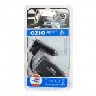 OZIO R11 1-to-3 Car Cigarette Lighter Sockets Power Adapter Splitter with USB - Silvery Grey