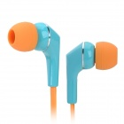 AWEI Q7I Flat In-Ear Earphone w/ Microphone / Clip - Blue + Orange (3.5mm Plug / 120cm)
