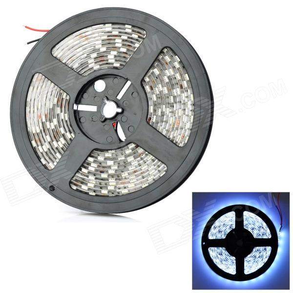 JR-5050 Waterproof 75W 900LM 6500K White 300-SMD 5050 LED Flexible Light Strip (12V / 5M) jr smd3528 60 w 24w 6500k 1200lm 300 smd 3528 led white flexible lamp strip 12v 5m