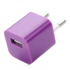 USB ЕС Plug Power Adapter для iPhone 5 - Фиолетовый