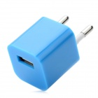 USB ЕС Plug Power Adapter для iPhone 5 - Синяя