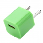 USB ЕС Plug Power Adapter для iPhone 5 - зеленый